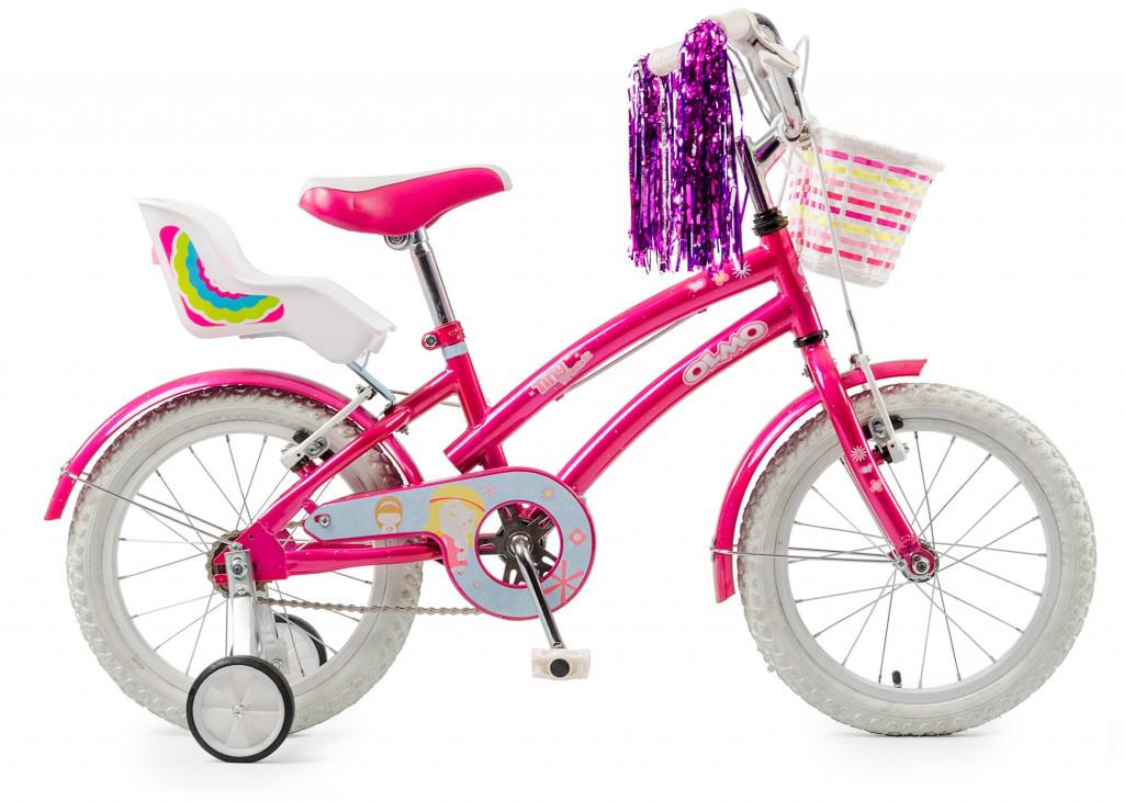 """Bicicleta Olmo Tiny Friends R 16"""" Rosa/Violeta/Celeste"""