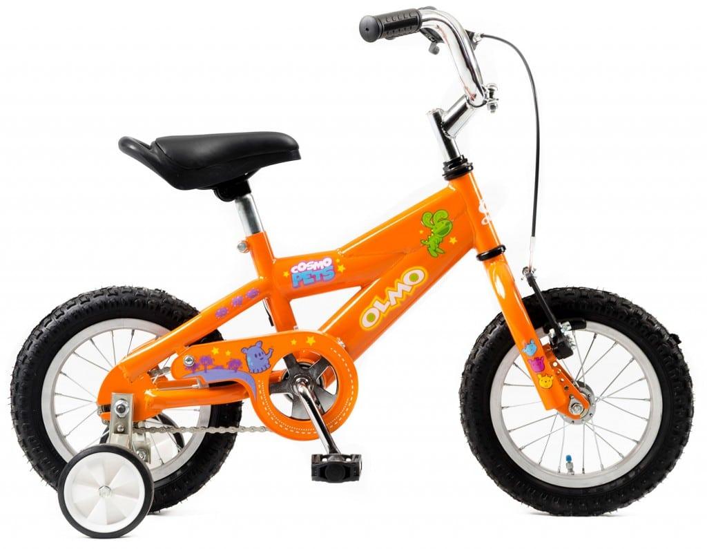 Olmo Cosmo Pets 12 Bicicleta (Verde/Naranja)