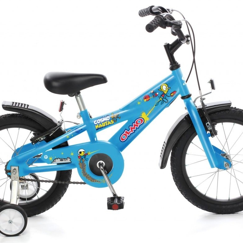 Olmo Cosmo Nautas 16 Bicicleta (Negro mate/Celeste)