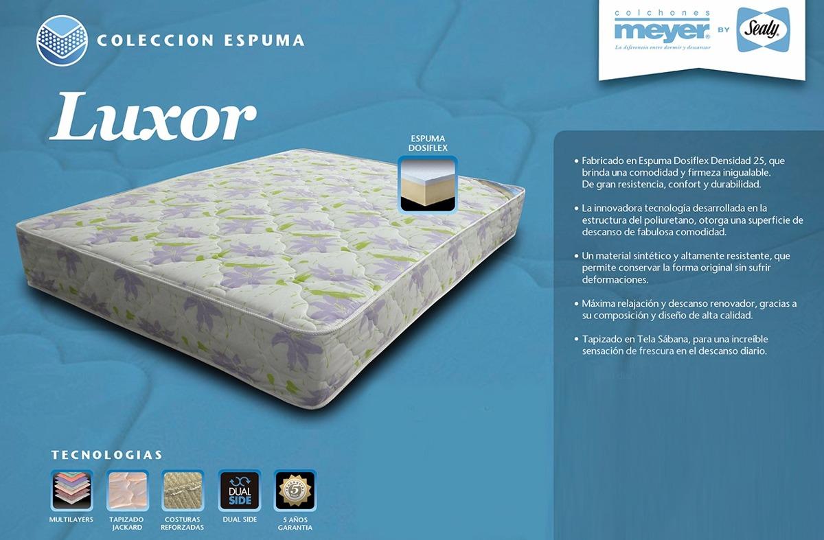 Colchon Meyer Luxor 1 40x1 90x0 25 Goma Espuma Dapas Hogar