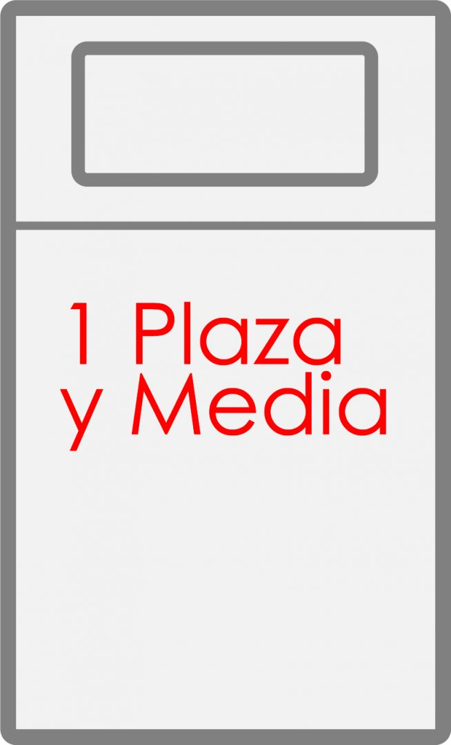 Colchon de 1 Plaza y media